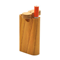 Alta Qualidade Madeira esconderijo subterrâneo da tubulação 2 em 1 com caixa de madeira Digger Um lançador de vidro Tubos de 59 milímetros de diâmetro HHC2006