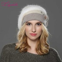 LILIYABAIHE NEW winter Women beret hat knitted wool angora b...