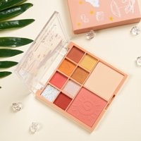 10 color Make up Maquillage Transparent shell Glitter eye shadow disc Little Pearl Shimmer Natural Blush Eyeshadow Waterproof Compact