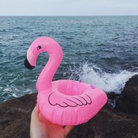 Été piscine gonflable flottant Flamingo Porte-bouteille d'eau Coupe plage Coupe du téléphone portable de soins flottant Ligne