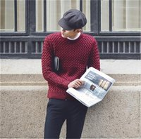 Sweaters Casual Solid Color O Neck Long Sleeve Slim Sweater New Mens Clothing 20AW Mens Designers