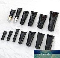 الأسود الخالي PE اليد البلاستيك كريم حاوية الضغط مستحضرات التجميل لينة خرطوم أنابيب، أنبوب التجميل المحمولة مع برغي غطاء SN10