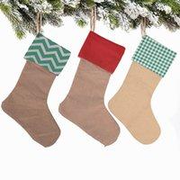 2020 عيد الميلاد الجورب الكتان عيد الميلاد الحلوى هدية حقائب نويل زينة عيد الميلاد للمنزل عيد الميلاد الجوارب شجرة ديكور