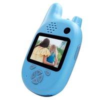 Videocamere Bambini Camera con Walkie Talkie, Videocamera per bambini Camcorder Dual Lenti Dual Lenti da 2,0 pollici IPS SN Automatic Focusing Music e
