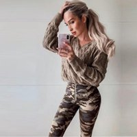 Melody wear camo leggings high waist tights running leggings women's camouflage funky gym