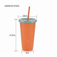 Amazon Hot BPA vente 24 oz Couleur Changement Bouteille d'eau Tumbler mode PP café en plastique Bouteille d'eau Tumbler