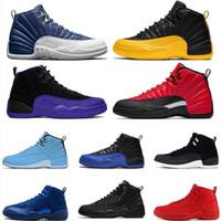 2020 Stone Bleu 12 Jumpman 12s Mens de basketball Chaussures de basket-ball rétro Jeux de la grippe de l'Université Or Dark Concord Entraîneurs Sports Sneakers Taille 13