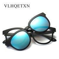 Lunettes de soleil Clip d'aimants originaux sur les lunettes de soleil rayons miroir pilote polarisés hommes polaroid extérieur tr90 images optiques magnétique