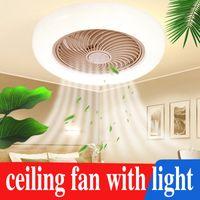 Elektrische Fans Moderne Deckenventilator mit Lichter Fernbedienung Licht Lampe für Schlafzimmer Esszimmer 110V / 220V LED Ventilador de Techo