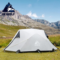 Hewolf Открытый кемпинга Оборудование Four Seasons Ultralight водонепроницаемый алюминиевый двухпозиционные Person Camping Tent