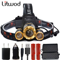 Z20 Litwod led Headlight 7000 Lumen chips T6   2*Q5 headlamp...