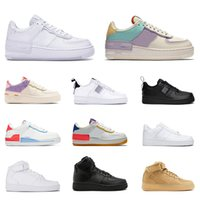 Air force 1 af1 forces airforce one n354 casual Moda reattiva uomo donna Utilità 1 Triple bianco nero Shadow Pale Ivory Scarpe con plateau Scarpe da ginnastica da tennis da