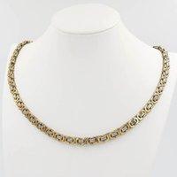 1 de alta qualidade colar de jóias 6MM para as Mulheres Homens cor do ouro caixa de aço inoxidável Cadeia bizantina Homens Moda bela jóia