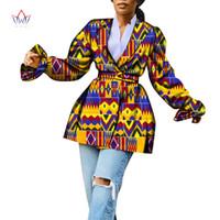 Африканские одежды для женщин пальто для женщин пальто Красочные моды с длинным рукавом тренчкот моды африканской печати WY6711