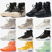 Air Fear of god 1 String The Question Triple Black Zapatillas de baloncesto para mujer para hombre Shoot Around Zapatillas de deporte de diseño al aire libre