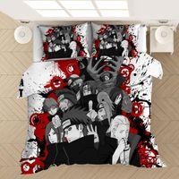 Anime Naruto 3D Impreso lecho Fundas Nórdicas Fundas de almohadas edredón de cama Set Ropa de cama Ropa de cama (no sábana)