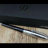 Dupont Fountain Pen bureau d'argent noir noir et fournitures écriture scolaire stylo cadeau de luxe pour le cadeau Recommander Pen