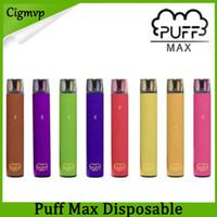 Yeni Puf Max Tek Kullanımlık Vape Pen E Sigara Kiti 2000 Puffs 5% 1200mAh 8.5 ml Fabrika Kaynağı VS Kangvape Stick Artı