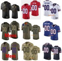 Hommes sur mesure Femmes 17 Josh Allen Jersey 49 Tremaine Edmunds 78 Bruce Smith 12 Jim Kelly 34 Thurman Thomas 95 Kyle Williams Maillots de football