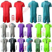 2020 2021 Niños España camiseta de la selección nacional de fútbol portero de fútbol Iker Casillas De Gea Arrizabalaga kit jersey casa lejos juegos de piezas de uniforme