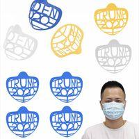 3D Máscara Bracket Trump Biden Batom Proteção Levante máscara interna Suporte para respirar livremente Rosto Máscaras Tool Holder Acessórios LJJP566