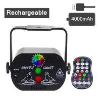20 stks 60 Patronen Mini USB Oplaadbare Strobe Party Laser Stage Verlichting Effect Voice Control Laser Projector Lamp voor Dance DJ Disco Light