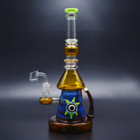 12インチのガラスボッツの水道管7mmの厚いガラスの石油の板の頭のようなガラスの石油の石油リグが14mmの石英バンジャー