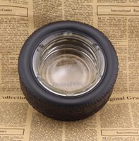 15.4 * 6cm Glas Reifen Aschenbecher Zylinder Shatterproof Zigarrengläser Aschenbecher rund Raucher Werkzeuge Gestalten Glasaschenbecher GGA3718
