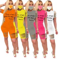 Women sweatsuit hole summer casual clothing (no mask) plus size S-3XL hoodies pants ripped 2 piece set pullover+leggings outfits capris 3811