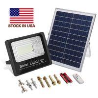 태양 빛 LED 스포트라이트 30W 50W 100W 200W 원격 제어 투광 조명 Tuinverlichting 가로등 방수 IP65