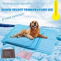 Dog Mat Summer Cooling Pad Pet Urine Tapis réutilisable couche-culotte Lit Pad Coussin Multifuntional imperméable Tapis de couchage Accessoires pour animaux HHE1425