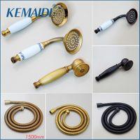 Kemaidi asa de latón lluvia rociador de agua ahorro de agua para accesorios de baño de ducha de ducha oro plástico blanco 200925