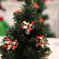 lazo CALIENTE mariposa con el día de fiesta del árbol de decoración guirnalda partido accesorios regalos de Navidad Campana de decoración de Navidad