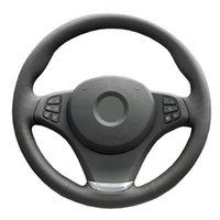 Véritable volant de voiture en cuir Couverture pour BMW E83 X3 2003-2010 E53 X5 2004-2006 / vezel / Direction-roue Guidon Braid