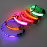 USB 케이블 충전 충전식 LED 개 목걸이 S M L XL 애완 동물 야간 안전 깜박임 목걸이