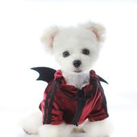 Personalidad Black Devil Wings Sudaderas mascotas otoño invierno de la manera de Outerwears del perro del dogo lindo del peluche ropa del perro del Schnauzer