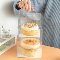 Envoltura de regalo 30 unids 4/5 pulgadas Caja de pastel transparente Cajas de plástico y envasado Titular de Muffin de magdalena transparente