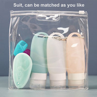 90ML travel plastic silicone keychain bottle travel container empty Refillable bottle Press Bottle Lotion Shampoo Bath Container