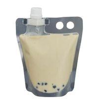 Bubble Tea Stand-up Kunststoff-Getränkeverpackungen Tasche Spout Beutel für Getränkeflüssigkeit Saft Milch Kaffee