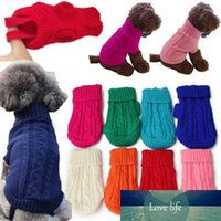 Pet Supply Knit Dog Jacket Sweater Pet Cat Puppy Coat Clothe...