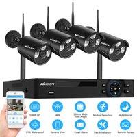 Systèmes 8CH 1080P CCTV sans fil WiFi Sécurité Caméras Système NVR avec surveillance de 4pcs Caméra IP Caméra Night Vision Night Vision Détection de mouvement