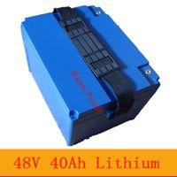 pacco batterie Li Ion 48V 40Ah litio con BMS per utensili elettrici sotrage energia solare a partire UPS + Charger