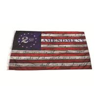 90 * 150cm Blueline USA Police Flaggen 2. Änderung Vintage amerikanische Flagge Polyester Thin Blue Line USA Flag CYZ2819