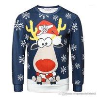 Digital Printed Teenager Sweatshirts Long Sleeve O Neck Male Apparel Christmas Printed Mens Designer Hoodies 3D
