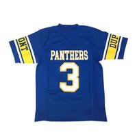 Benutzerdefinierte Randy Moos High School Football Jersey Männer Alles genäht Freies Verschiffen Mesh Jeder Name Blau