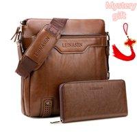 Caso chegada Fashion Business couro Men Messenger Bags Pasta Para Documentos Handbag Satchel Portfolio Breve Saco para o telefone