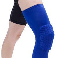 Cotovelo joelho almofadas 1 pc pad manga favo de mel brace elástico respirável kneepad basquete protetora engrenagem patela espuma apoio esporte acessório