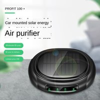 Portable Car air purifier hepa filter ionizer air purifier for home negative ion smart Solar Car ozone generator