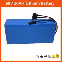 Yüksek Güç 60 V 20AH 1500 W Lityum İyon Batterie 1000 W 60 V 16 S 15AH 18AH 25AH 30Ah Elektrikli Bisiklet Bisiklet Pil Paketi ile PVC Case 30A BMS 67.2V 2A Şarj