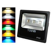 Открытый RGB освещение 150W RGB Led Прожекторы IP65 Водонепроницаемый Светодиодный Прожектор пейзаж Настенный светильник AC 85-265